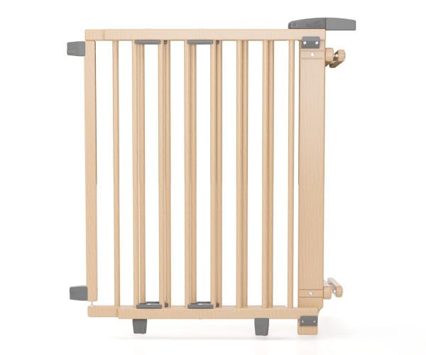 Barrière d'escalier pivotante en bois