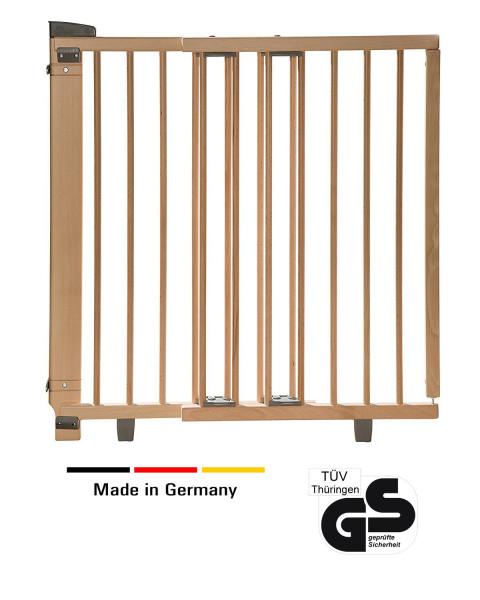 Barrière de porte pivotante en bois