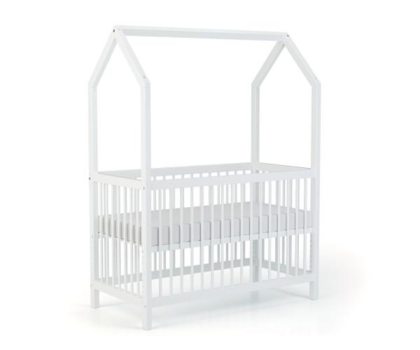 Lit 4 en 1 Modulable. S'utilise comme lit bébé, lit d'appoint, lit junior, maison de jeu. Lit cabane/tipi. Hauteur réglable sur 10 positions