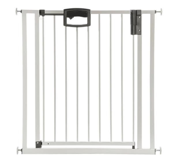 Barrière de porte et d'escalier Easylock Plus en métal à fixer par pression